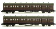 Dapol 2P-003-005 B Set Coach Twin Pack BR Crimson 6975 & 6976
